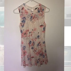 NWOT Lily Rose Floral Lace Skater Dress